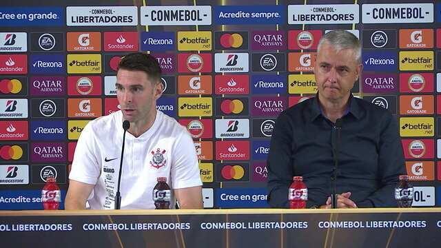 Boselli e Tiago Nunes falam em coletiva após a eliminação do Corinthians na Libertadores