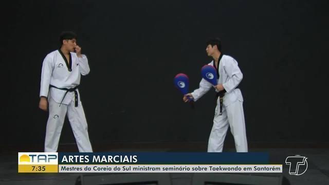Mestres da Coreia do Sul ministram seminário sobre taekwondo em Santarém