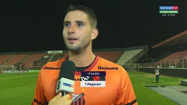 """Pegorari fala após vitória: """"Espero dar continuidade pra gente almejar coisas maiores"""""""