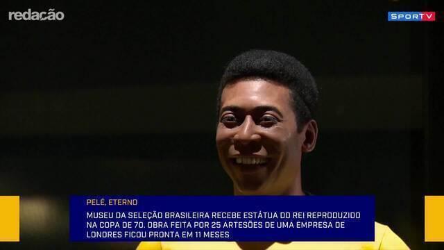 """Estátua de Pelé será inaugurada no Museu da CBF, e Barreto elogia: """"É impressionante"""""""