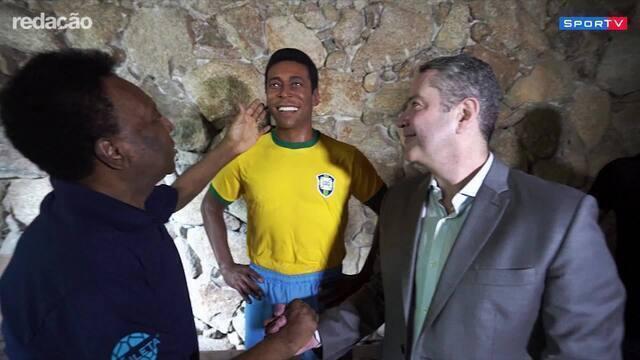 CBF dá início às comemorações pelos 50 anos do Tri e inaugura a estátua de Pelé