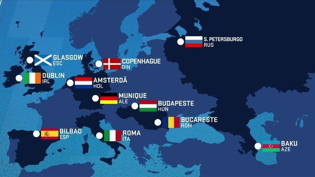 100 dias pra Eurocopa: pela primeira vez a competição não vai ter sede fixa