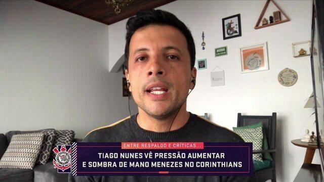 André Hernan comenta situação de Tiago Nunes no Corinthians