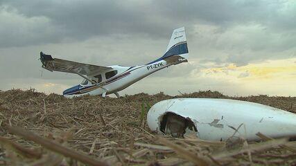[Brasil] Aeronave com dois ocupantes realiza pouso forçado em canavial de Ibaté (SP) 4345576
