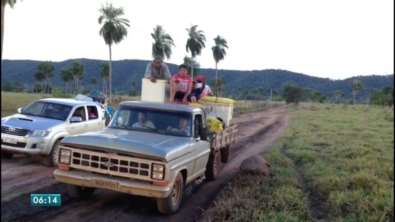 Secretaria de Segurança Pública faz desocupação de garimpo em Pontes e Lacerda