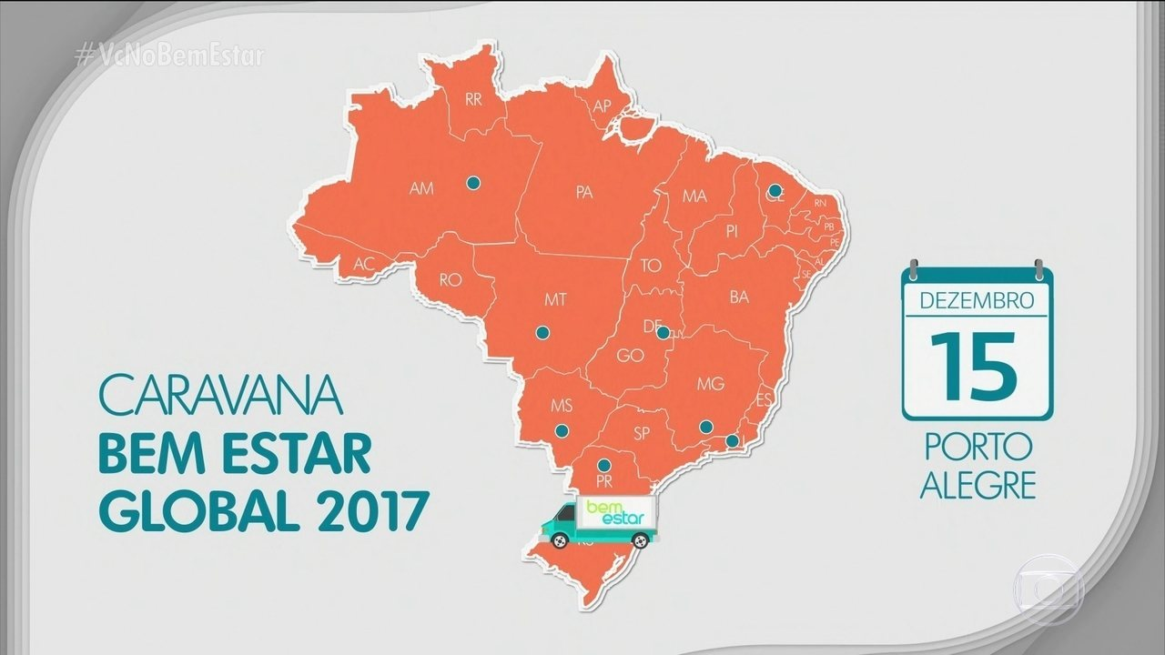 Caravana Bem Estar Global vai percorrer várias cidades do Brasil