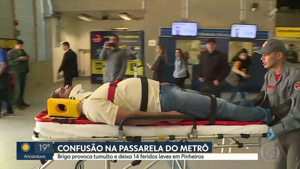 Suspeita de tiros na estação Pinheiros deixa 14 feridos — Susto na CPTM