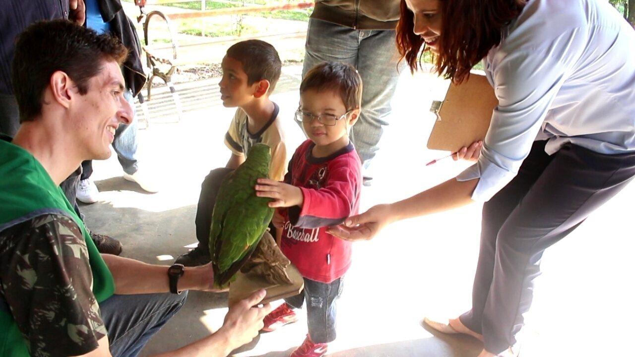 Resultado de imagem para Deficientes visuais fazem 'caça ao tesouro' com familiares em parque de Sorocaba