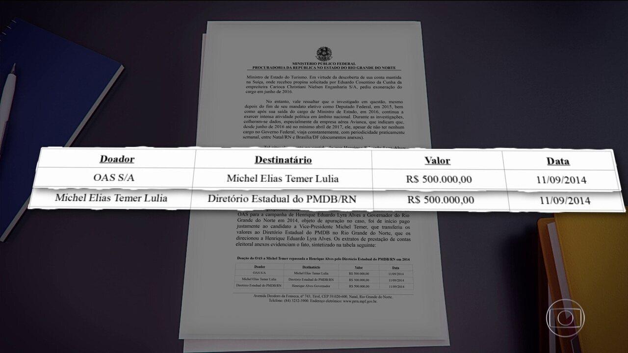 MPF acusa OAS de pagar propina a ex-ministro usando conta de Temer