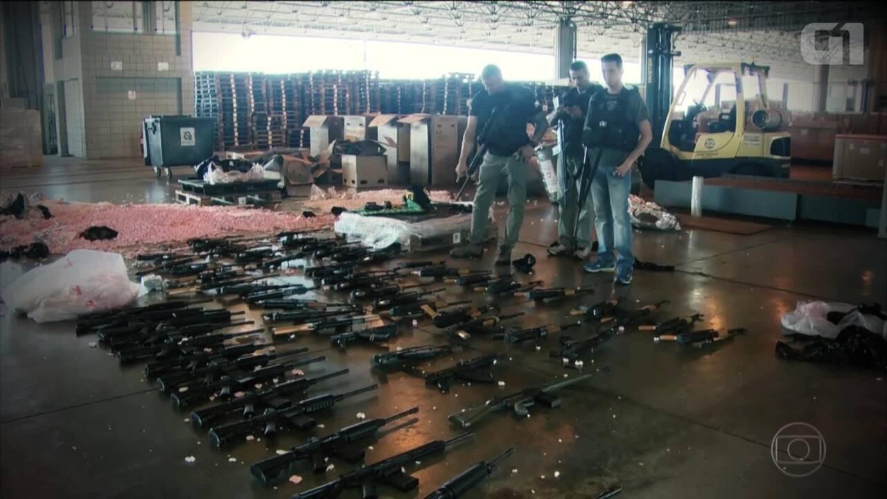 Mais de 2,5 mil fuzis são apreendidos no Rio em 10 anos