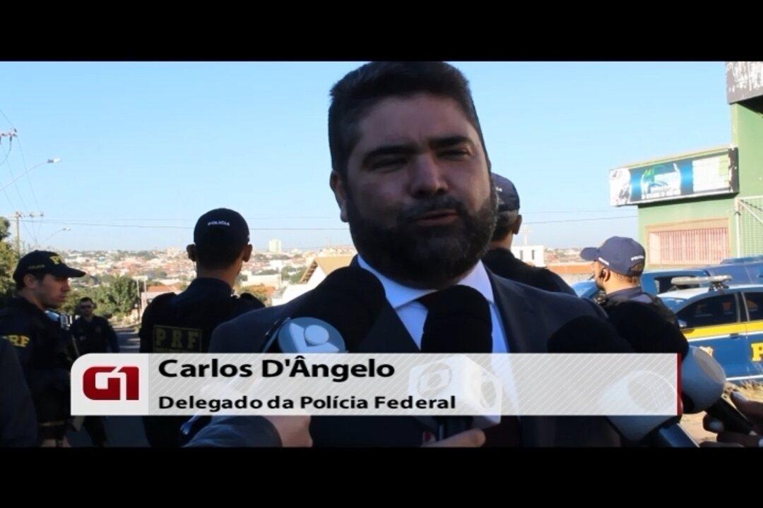 Autoridades falam sobre a operação Domiciano deflagrada em Uberlândia