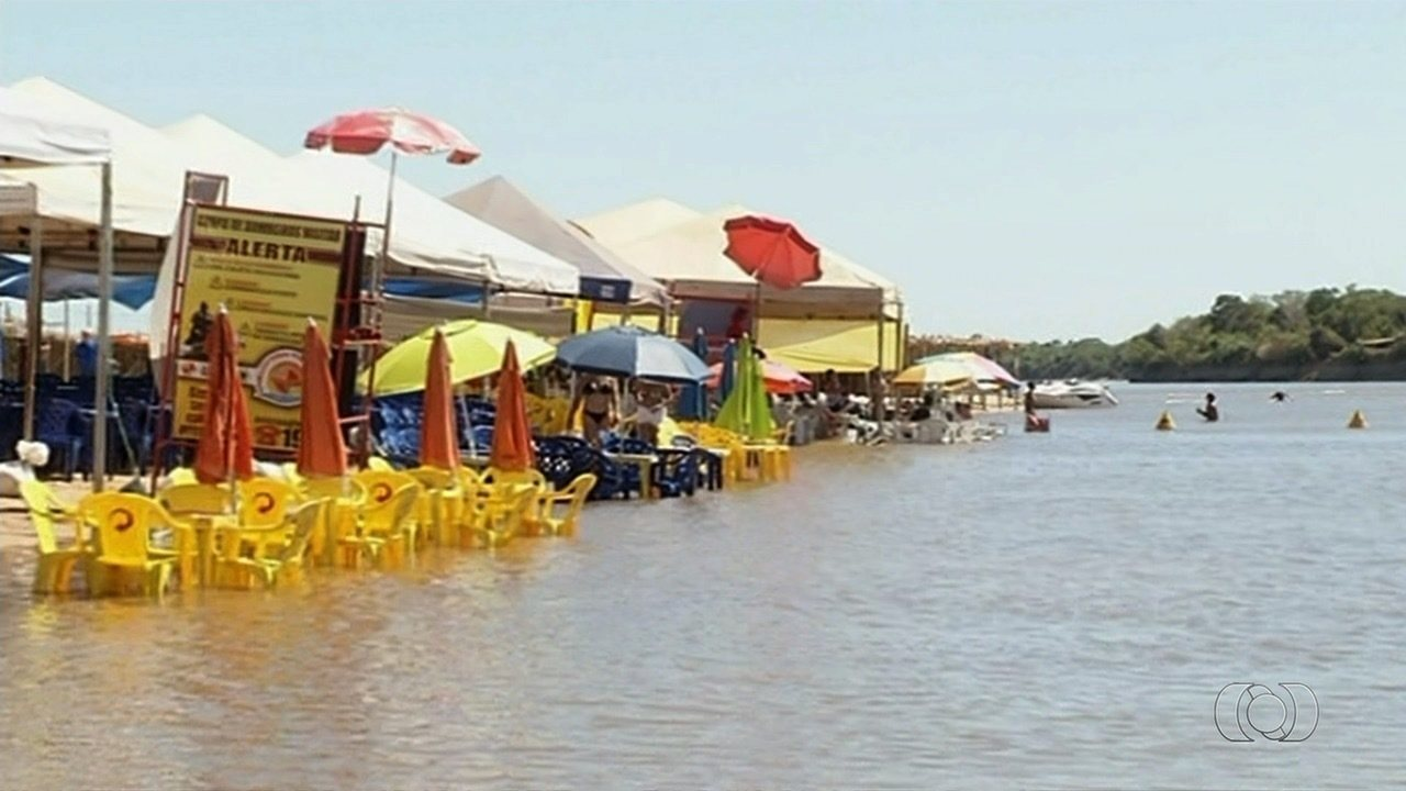 2f6044b88509 Começa temporada de praia do Rio Araguaia no distrito de Luiz Alves, em  Goiás - G1 Goiás - Vídeos - Catálogo de Vídeos