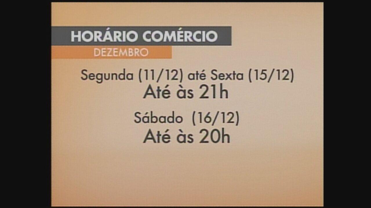 f20088d11 Comércio de Chapecó terá horário especial durante mês de dezembro - G1  Santa Catarina - Jornal do Almoço - Catálogo de Vídeos