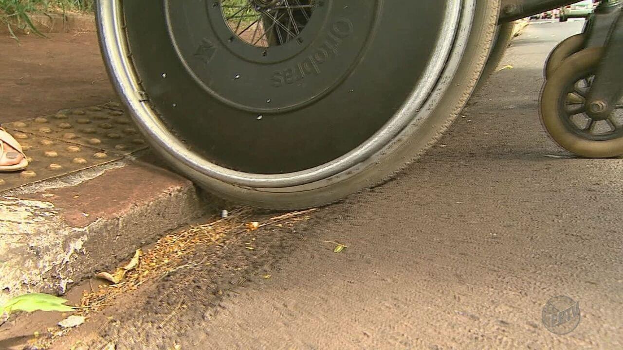 Resultado de imagem para Falta de acessibilidade causa transtornos a pedestres em Ribeirão Preto