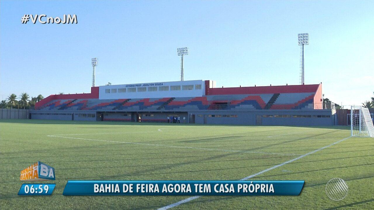 7642caabdb882 Bahia de Feira inaugura Arena Cajueiro em Feira de Santana - G1 Bahia -  Jornal da Manhã - Catálogo de Vídeos