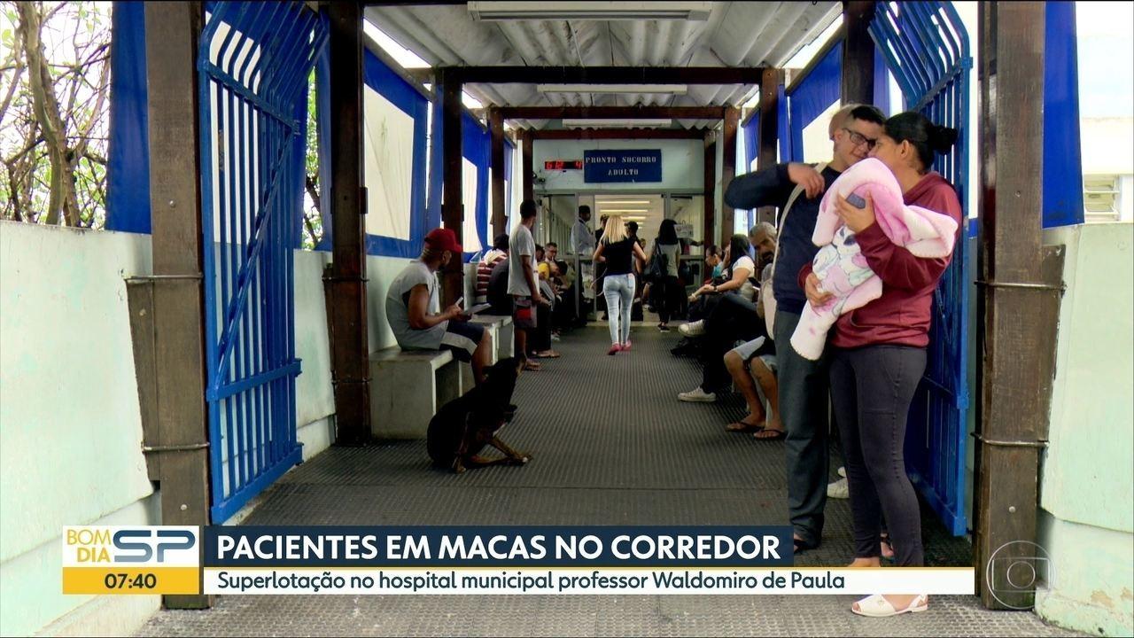 Pacientes reclamam da superlotação no hospital municipal Waldomiro de  Paula, em Itaquera