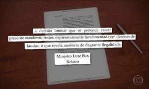 Luiz Fux nega pedido do governo sobre posse de Lula