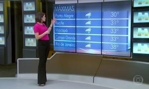 Confira a previsão do tempo para todo o país