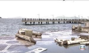 Mau tempo mantém Porto de Santos fechado