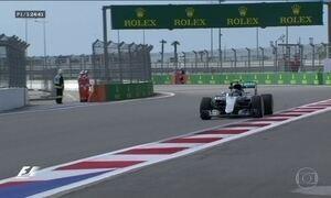 Nico Rosberg, da Mercedes, domina treino livre para GP da Rússia de F1