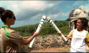 Tocha Olímpica passeia por Fernando de Noronha