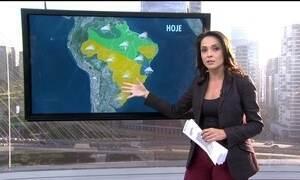 Confira a previsão do tempo em todo o Brasil na segunda-feira (13)