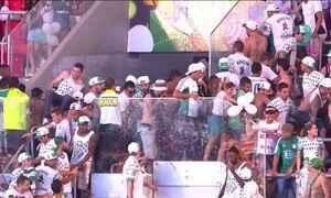 Flamengo e Palmeiras são punidos pelo STJD por briga de torcidas