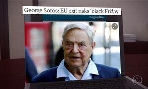 George Soros alerta sobre riscos da possível saída do Reino Unido da UE
