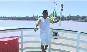 Tocha olímpica chega a Porto Velho (RO)