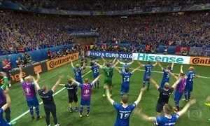 Islândia elimina Inglaterra da Eurocopa e Itália despacha Espanha