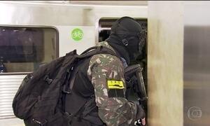Militares fazem simulação de ataque terrorista ao metrô, em São Paulo