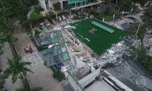 Perícia vai apontar causas do desabamento em área de prédio em Vitória (ES)