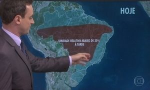 Tempo fica seco em boa parte do Brasil
