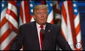 Trump faz discurso como candidato à presidência dos Estados Unidos