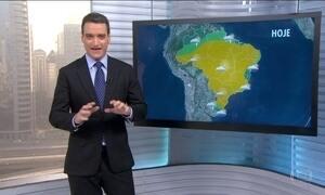 Veja a previsão do tempo para esta segunda-feira (25) em todo o Brasil