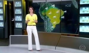 Área de baixa pressão atmosférica deixa tempo instável no Sul do país
