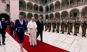 Papa discursa na Polônia e prega a reconciliação