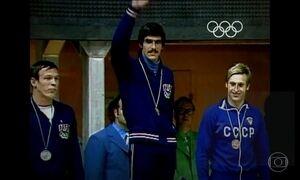 Nadador Mark Spitz ganhou sete medalhas de ouro na Olimpíada de 1972