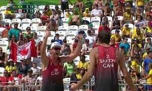 Dupla brasileira de vôlei de praia perde para o Canadá
