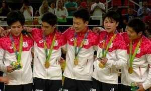 Japão leva o ouro na final de ginástica artística masculina
