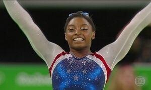 Simone Biles segue fazendo história na Olimpíada