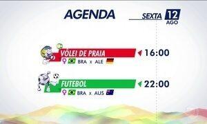 Confira a agenda olímpica desta sexta-feira (12)