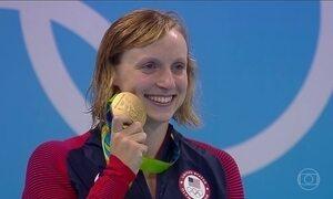 Katie Ledecky encerra participação nos Jogos do Rio com cinco medalhas