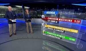 Veja os destaques da programação olímpica da TV Globo na sexta-feira (19)