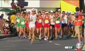 Marcha atlética tem três brasileiros na briga por medalha