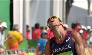 Atleta francês é exemplo de superação na prova de marcha atlética de 50 km