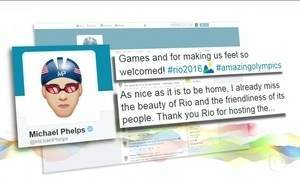 Michael Phelps diz que sente saudades da gentileza dos cariocas