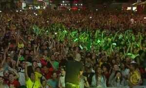 Boulevard Olímpico atrai multidão para a final Brasil x Alemanha