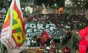 Protestos foram registrados em várias regiões do país