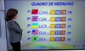 Veja como está o quadro de medalhas da Paralimpíada